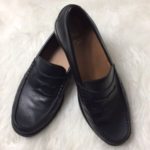 Cole Haan pinched penny loafers in black